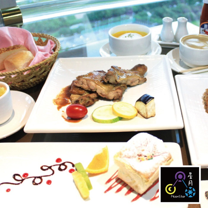 【台北】星月360度旋轉景觀餐廳-1人新義法套餐